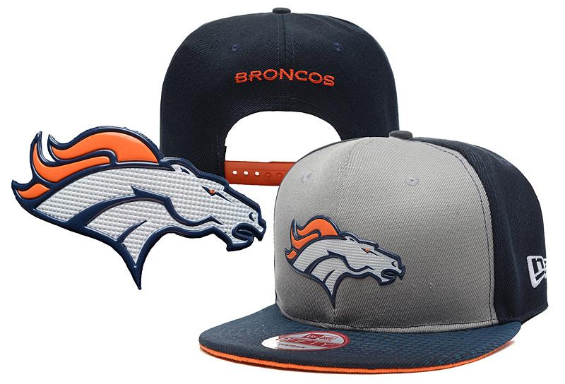 Broncos Team Logo Gray Black Adjustable Hat YD