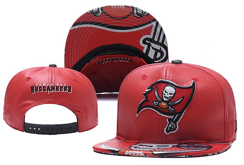 Buccaneers Fresh Logo Red Leather Adjustable Hat YD