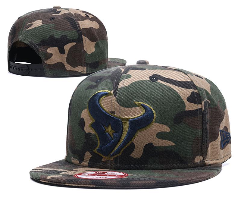 Texans Team Logo Camo Adjustable Hat GS
