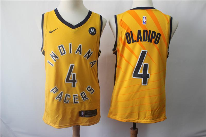 Pacers 4 Victor Oladipo Yellow Nike Swingman Jersey