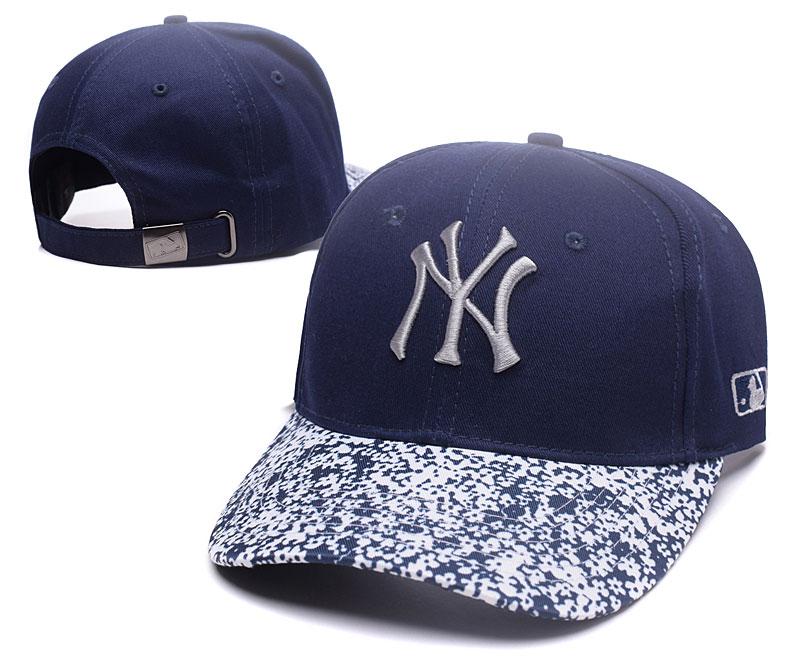 Yankees Team Logo Navy Special Peaked Adjustable Hat TX