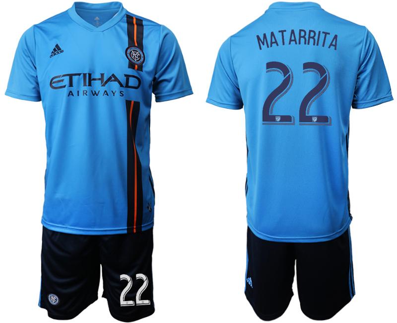 2019-20 New York City FC 22 MATARRITA Home Soccer Jersey