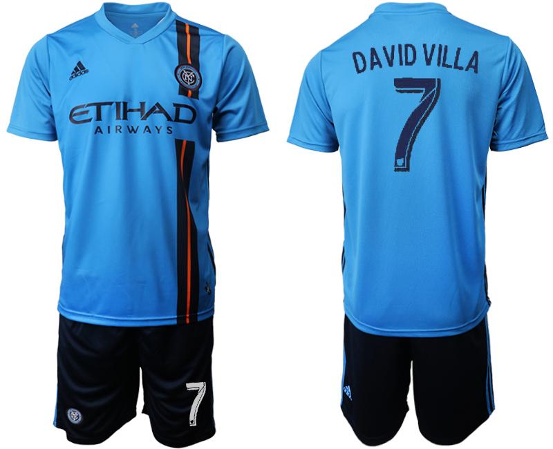 2019-20 New York City FC 7 DAVID VILLA Home Soccer Jersey