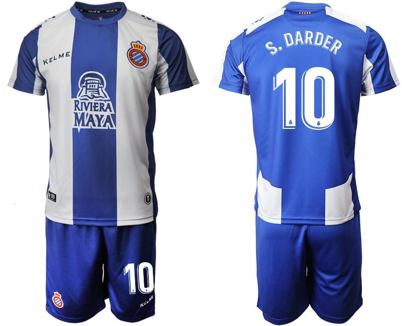 2019-20 RCD Espanyol 10 S. DARDER Home Soccer Jersey