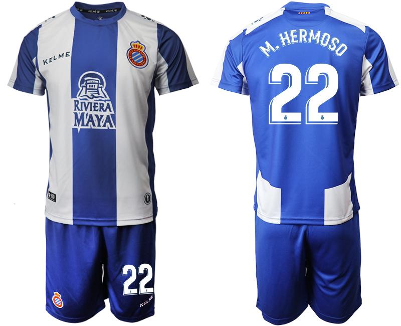 2019-20 RCD Espanyol 22 M. HERMOSO Home Soccer Jersey