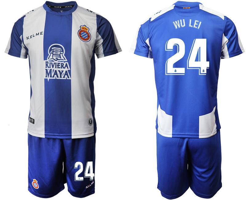 2019-20 RCD Espanyol 24 WU LEI Home Soccer Jersey