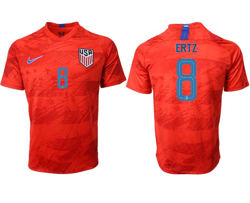 2019-20 USA 8 ERTZ Away Thailand Soccer Jersey