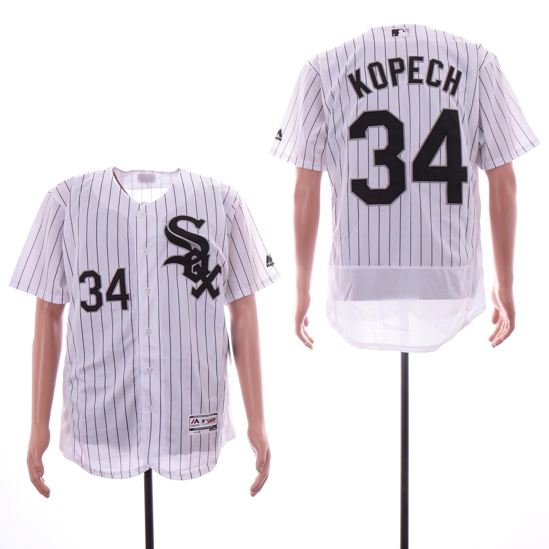White Sox 34 Michael Kopech White Flexbase Jersey