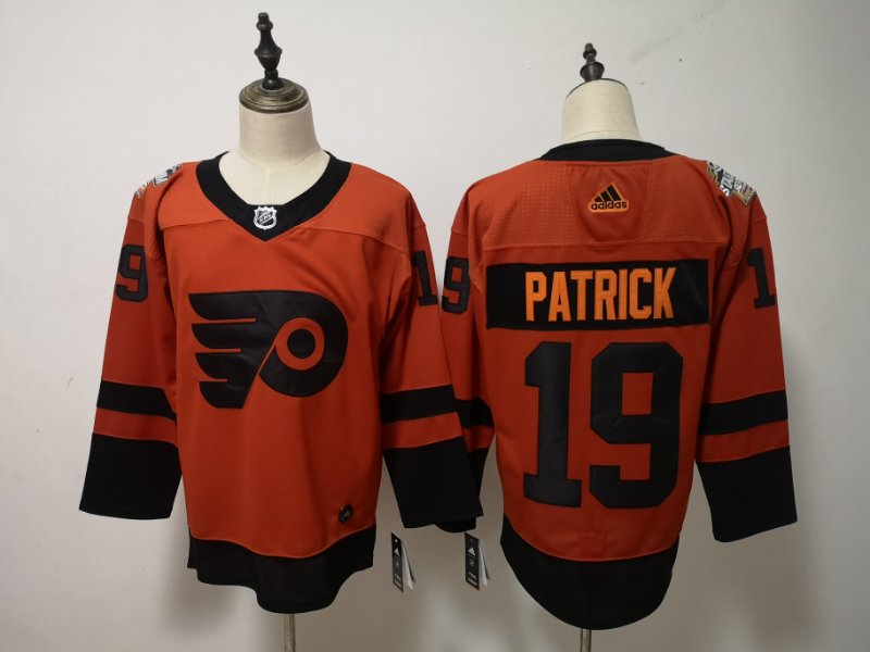 Flyers 19 Nolan Patrick Orange 2019 NHL Stadium Series Adidas Jersey