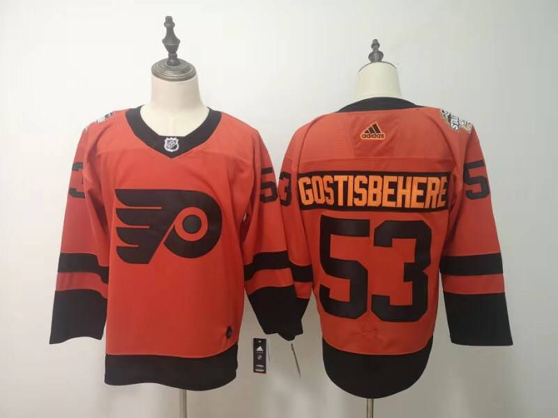 Flyers 53 Shayne Gostisbehere Orange 2019 NHL Stadium Series Adidas Jersey