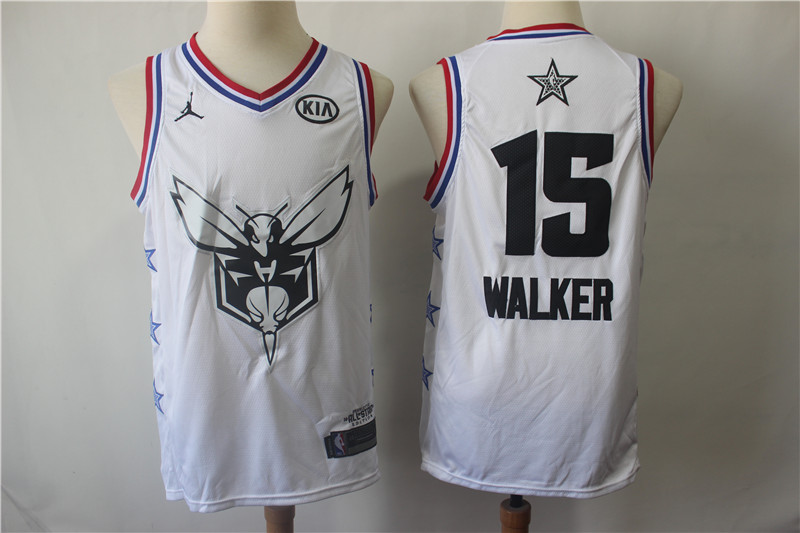 Hornets 15 Kemba Walker White 2019 NBA All-Star Game Jordan Brand Swingman Jersey