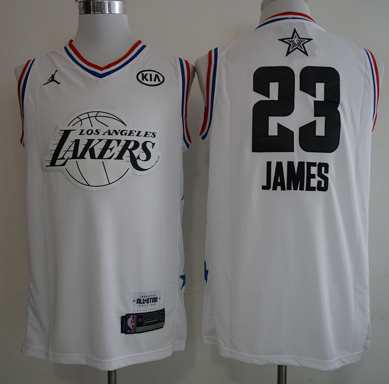 Lakers 23 Lebron James White 2019 NBA All-Star Game Jordan Brand Swingman Jersey