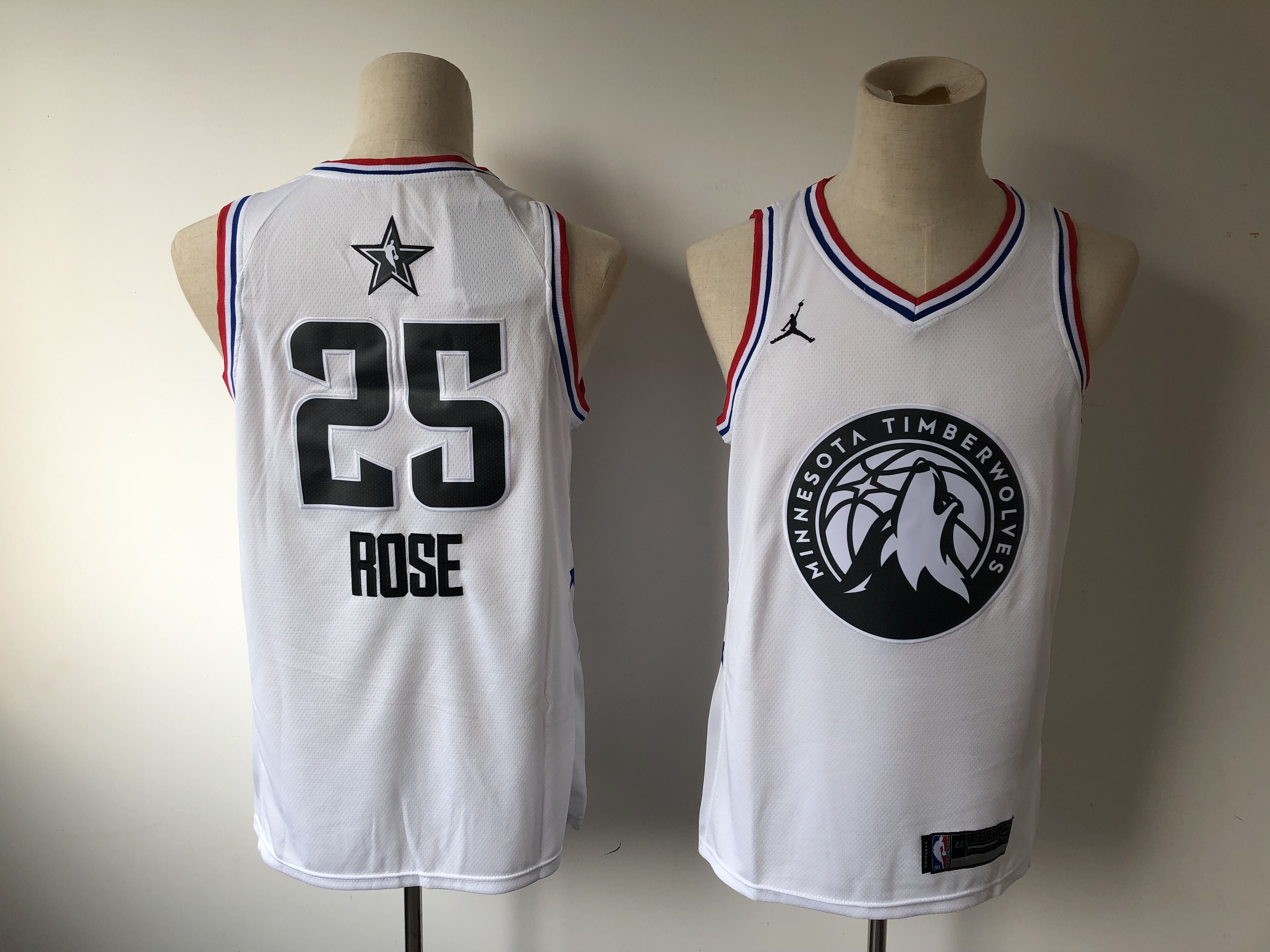 Timberwolves 25 Derrick Rose White 2019 NBA All-Star Game Jordan Brand Swingman Jersey