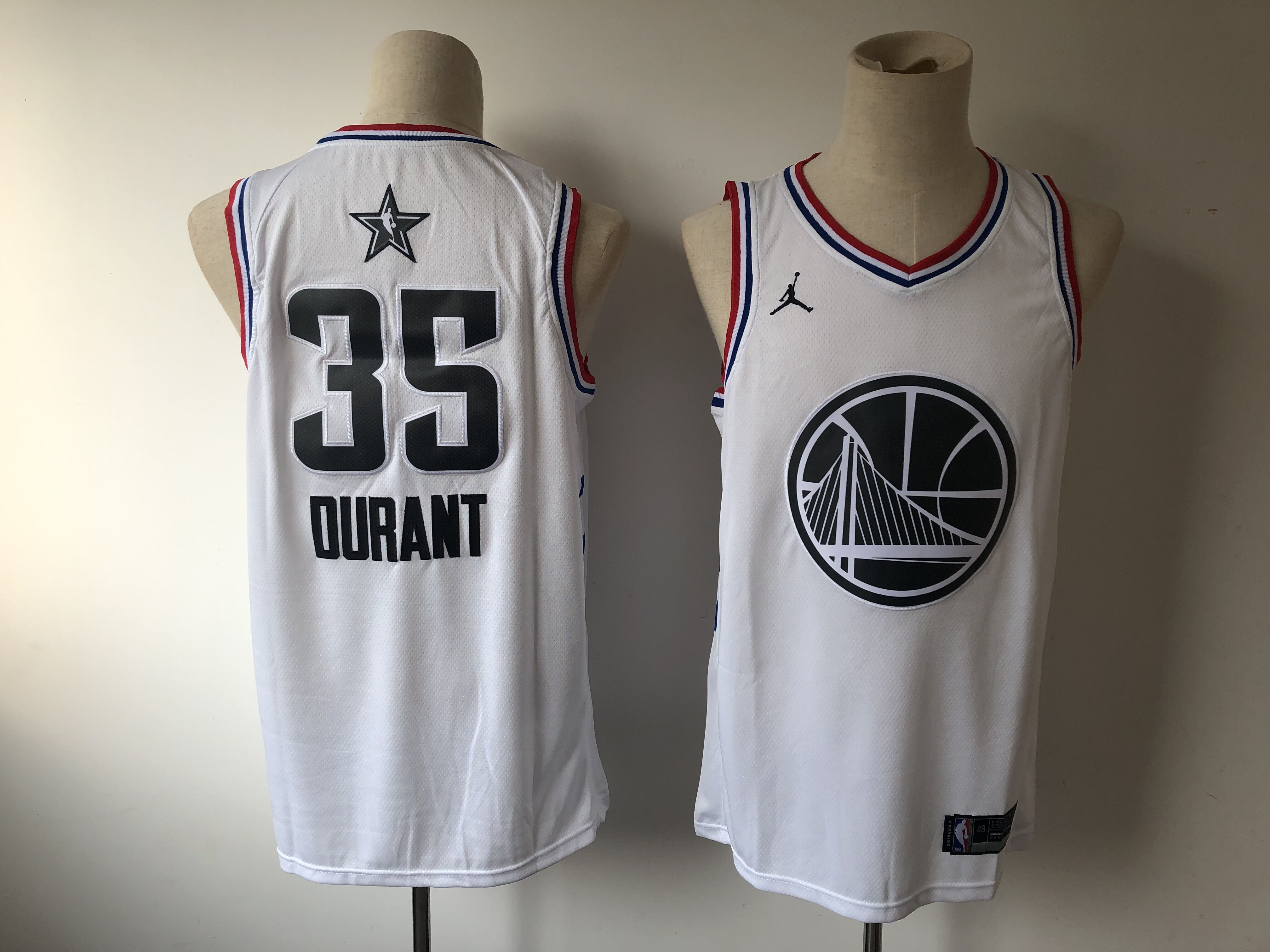Warriors 35 Kevin Durant White 2019 NBA All-Star Game Jordan Brand Swingman Jersey