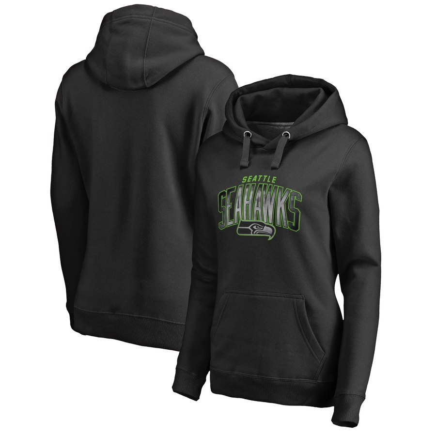 Seattle Seahawks NFL Pro Line by Fanatics Branded Women's Plus Size Arch Smoke Pullover Hoodie