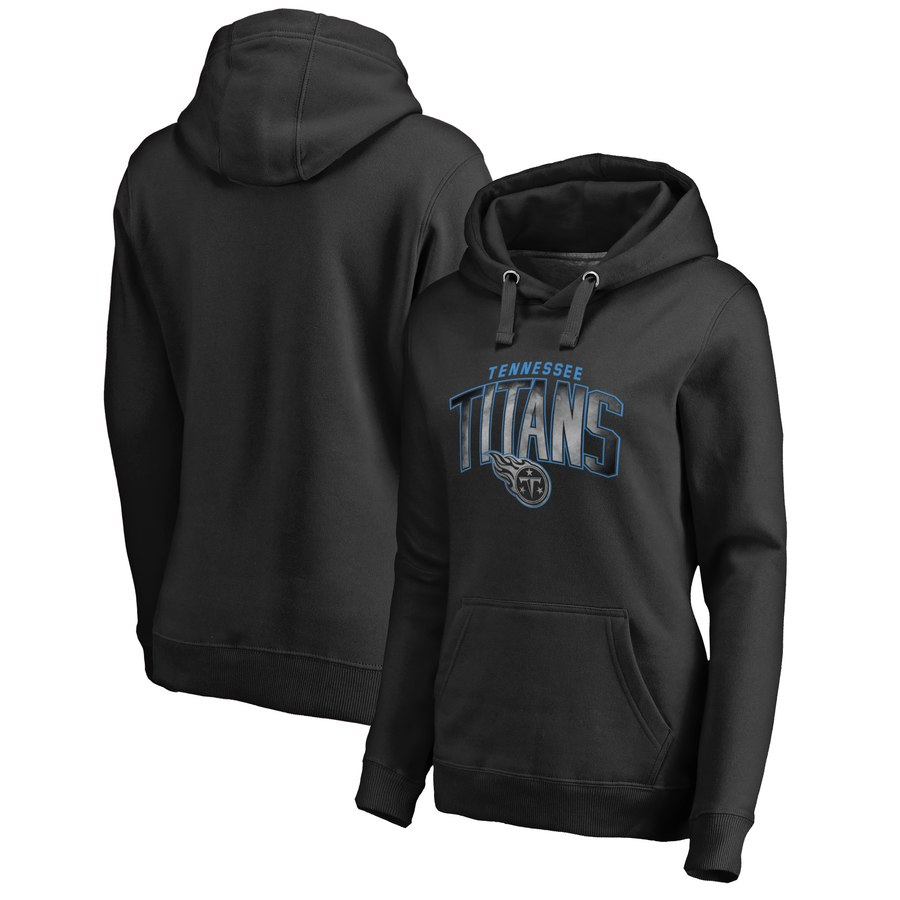 Tennessee Titans NFL Pro Line by Fanatics Branded Women's Plus Size Arch Smoke Pullover Hoodie
