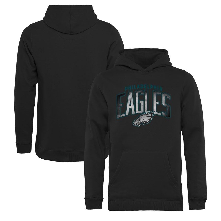 Philadelphia Eagles NFL Pro Line by Fanatics Branded Youth Arch Smoke Pullover Hoodie Black