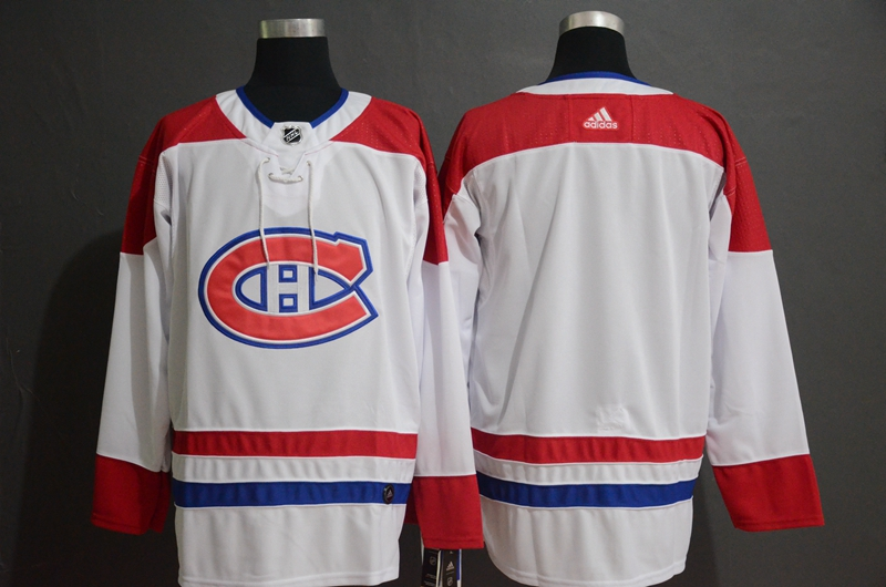 Canadiens Blank White Adidas Jersey