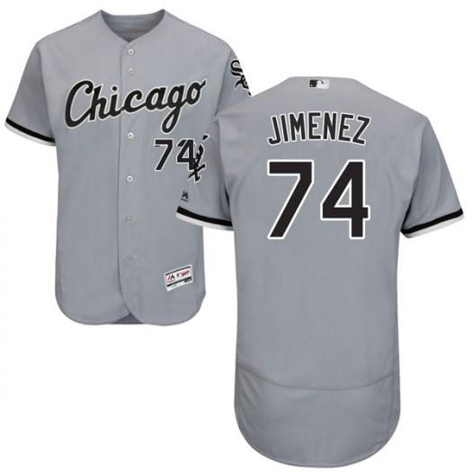 White Sox 74 Eloy Jimenez Gray Flexbase Jersey