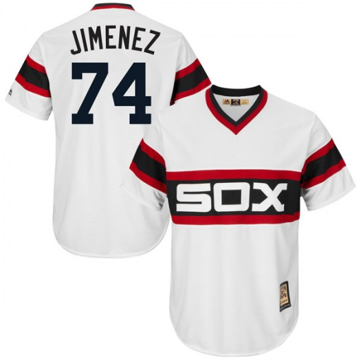 White Sox 74 Eloy Jimenez White Cooperstown Collection Jersey