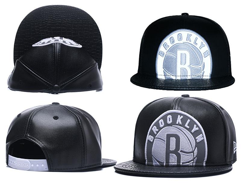 Nets Team Big Logo Black Adjustable Hat GS