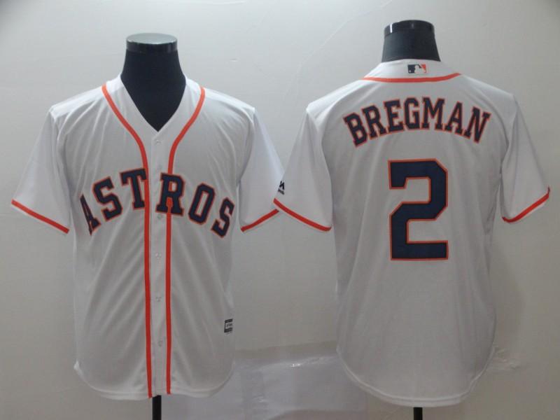 Astros 2 Alex Bregman White Cool Base Jersey