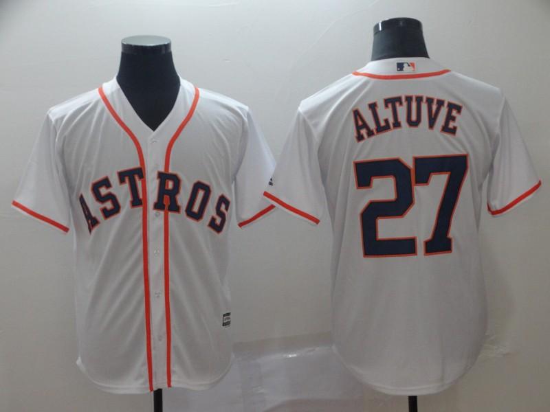Astros 27 Jose Altuve White Cool Base Jersey