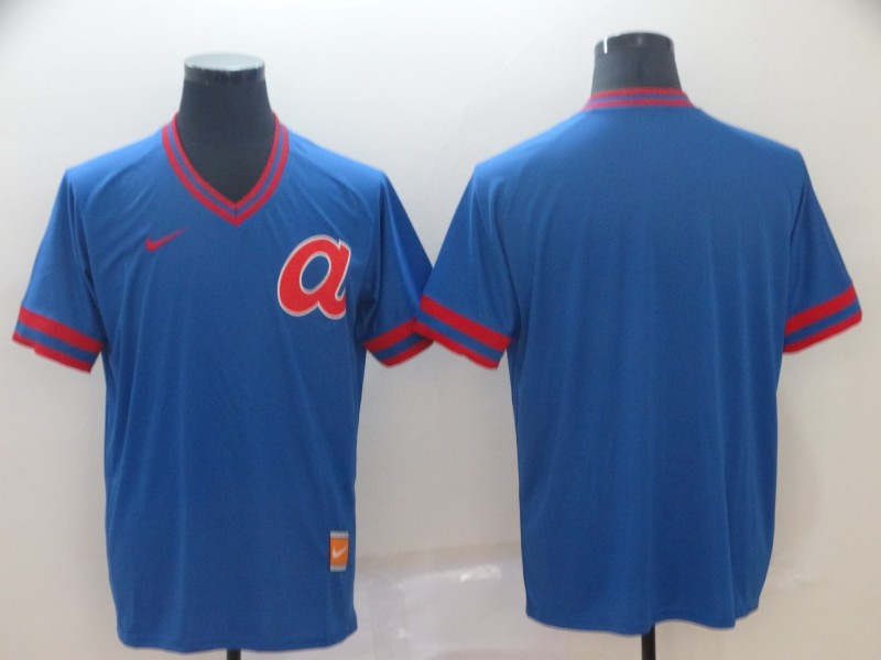 Braves Blank Blue Throwback Jersey