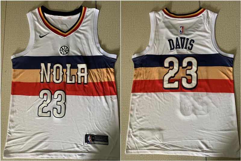 Pelicans 23 Anthony Davis White Earned Edition Nike Swingman Jersey