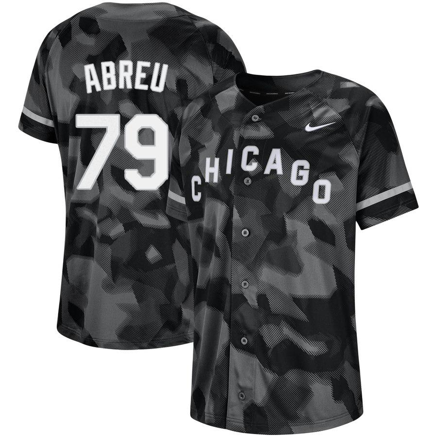 White Sox 79 Jose Abreu Black Camo Fashion Jersey