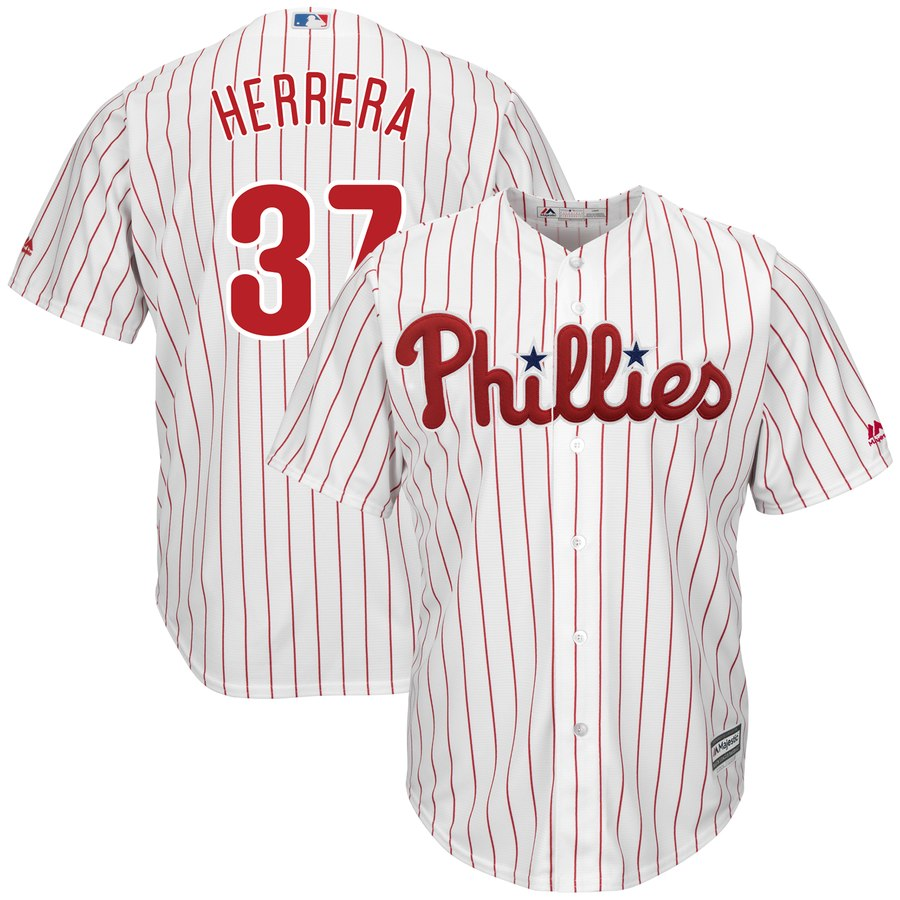 Phillies 37 Odubel Herrera White Cool Base Jersey
