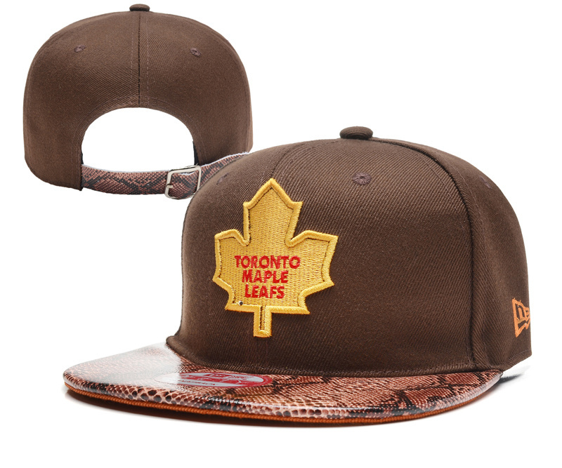 Maple Leafs Team Logo Brown Adjustable Hat YD