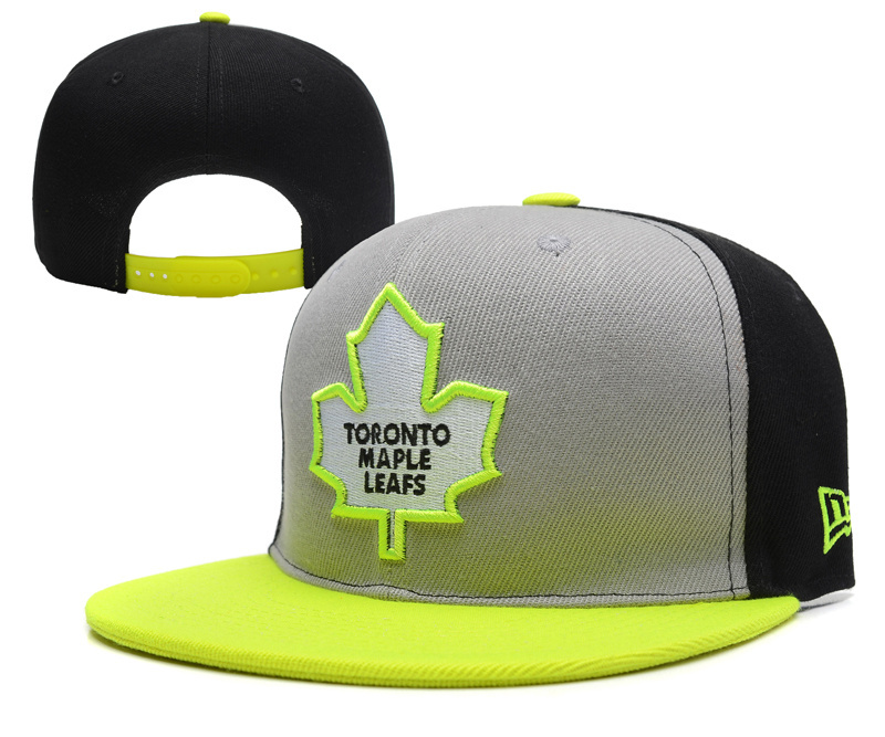 Maple Leafs Team Logo Gray Yellow Adjustable Hat YD