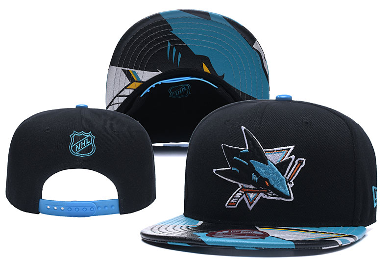 Sharks Team Logo Black Adjustable Hat YD