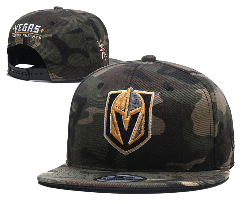 Vegas Golden Knights Team Logo Camo Adjustable Hat YD