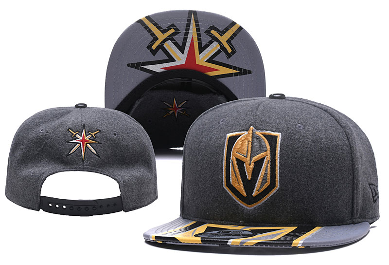 Vegas Golden Knights Team Logo Gray Adjustable Hat YD