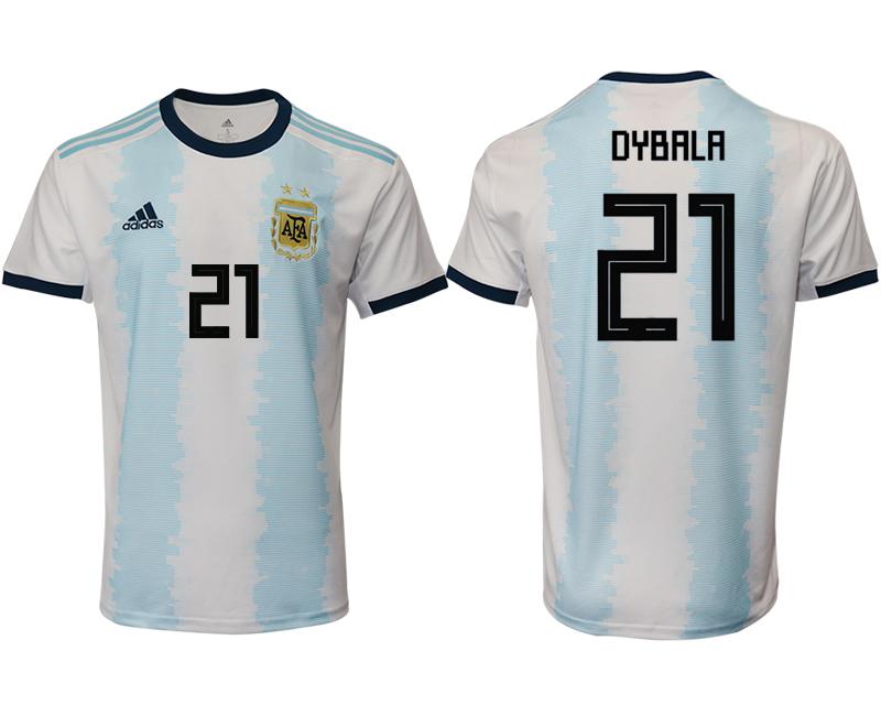 2019-20 Argentina 21 DYBALA Home Thailand Soccer Jersey