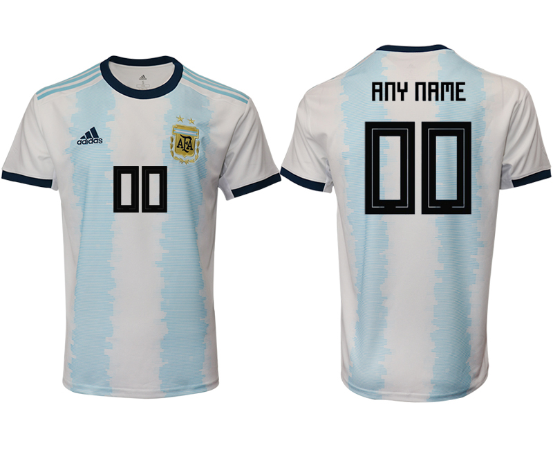 2019-20 Argentina Customized Home Thailand Soccer Jersey