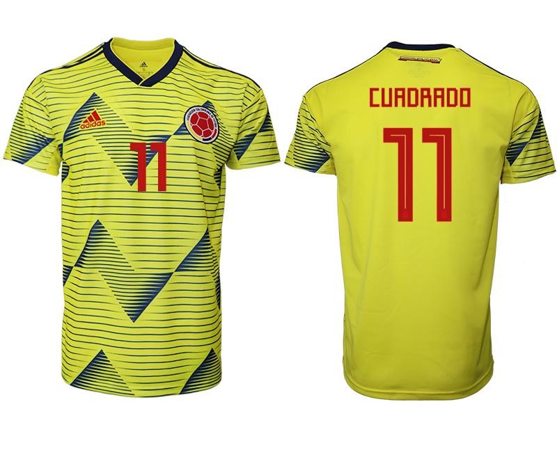2019-20 Colombia 11 CUADRADO Home Thailand Soccer Jersey