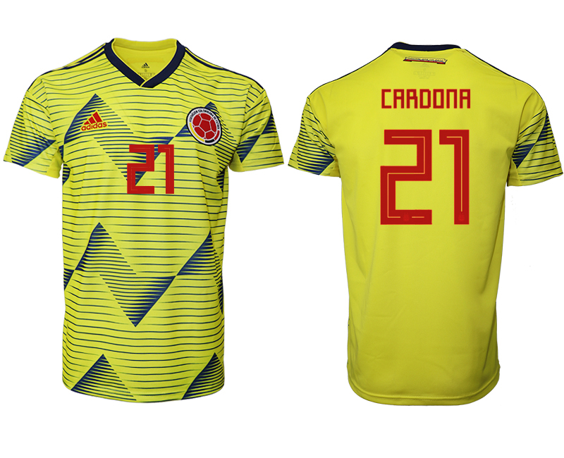 2019-20 Colombia 21 CARDONA Home Thailand Soccer Jersey