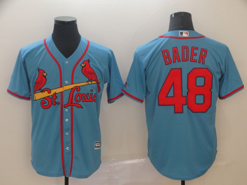 Cardinals 48 Harrison Bader Light Blue Cool Base Jersey