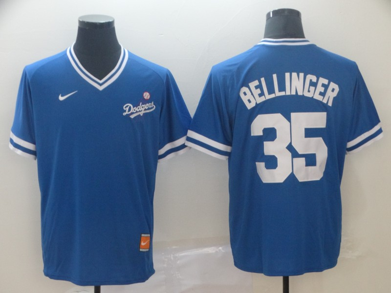 Dodgers 35 Cody Bellinger Blue Throwback Jersey