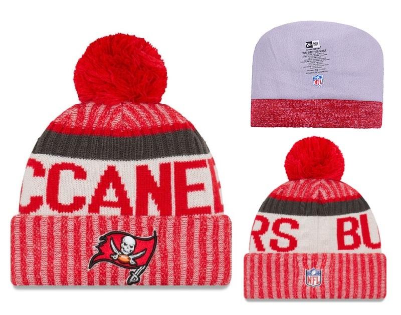 Buccaners Fresh Logo Red Pom Knit Hat YD