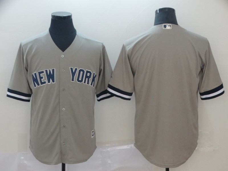 Yankees Blank Gray Cool Base Jersey