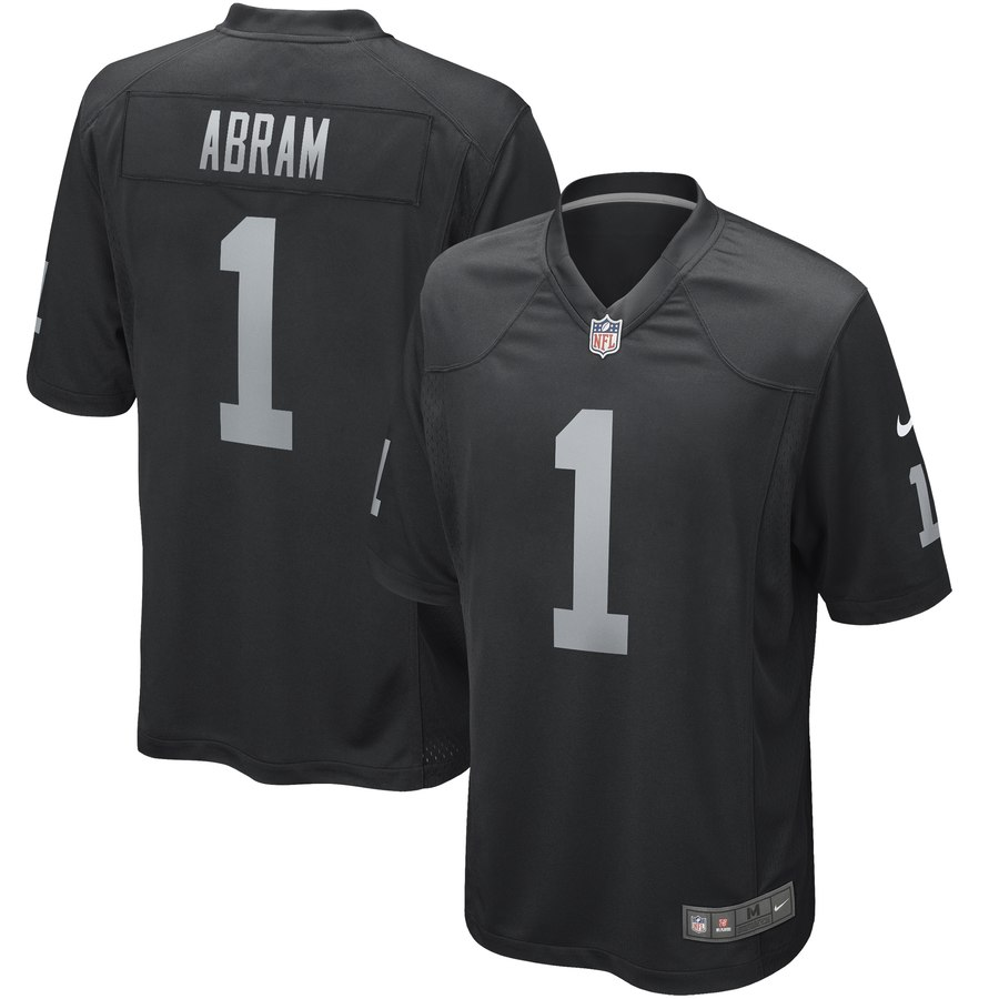 Nike Raiders 1 Johnathan Abram Black 2019 NFL Draft First Round Pick Vapor Untouchable Limited Jersey