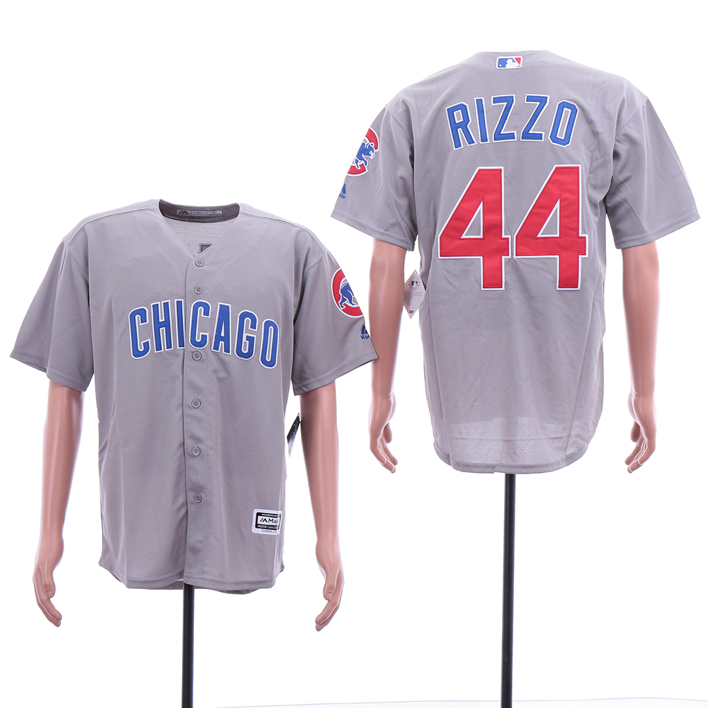 Cubs 44 Anthony Rizzo Gray Cool Base Jersey