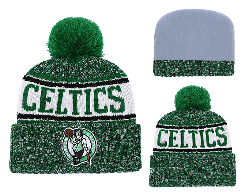 Celtics Fresh Logo Green Pom Knit Hat YD