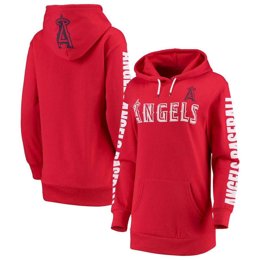 Los Angeles Angels G III 4Her by Carl Banks Women's Extra Innings Pullover Hoodie Red