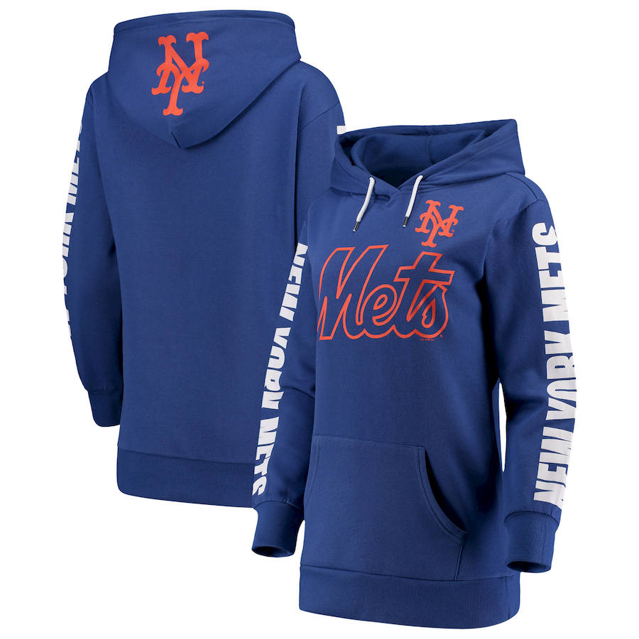 New York Mets G III 4Her by Carl Banks Women's Extra Innings Pullover Hoodie Royal