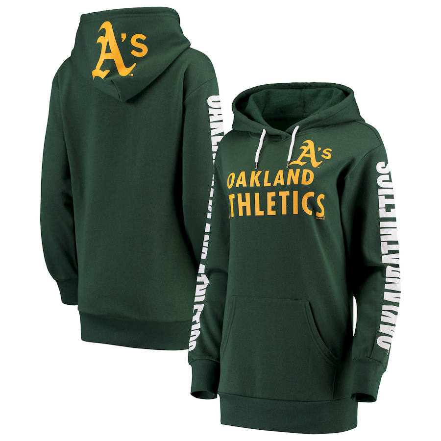 Oakland Athletics G III 4Her by Carl Banks Women's Extra Innings Pullover Hoodie Green
